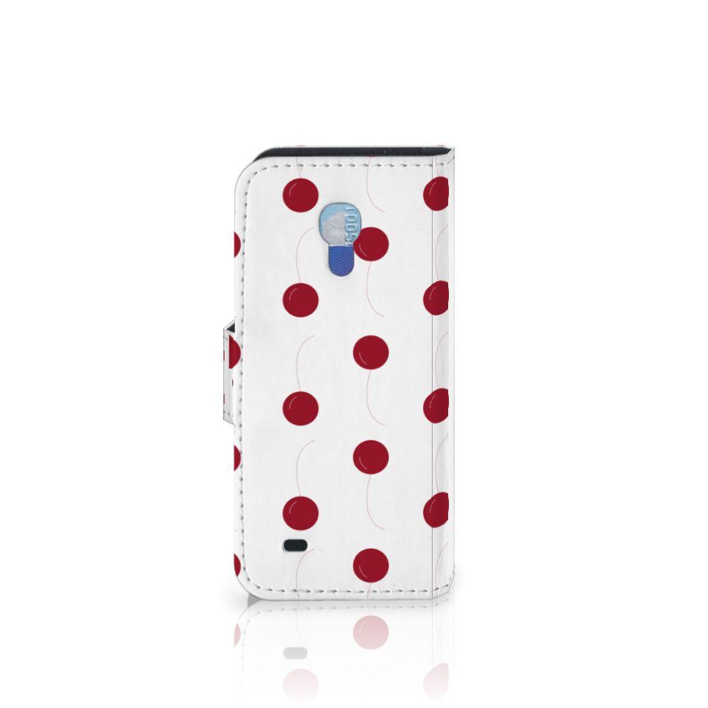 Samsung Galaxy S4 Mini i9190 Book Cover Cherries