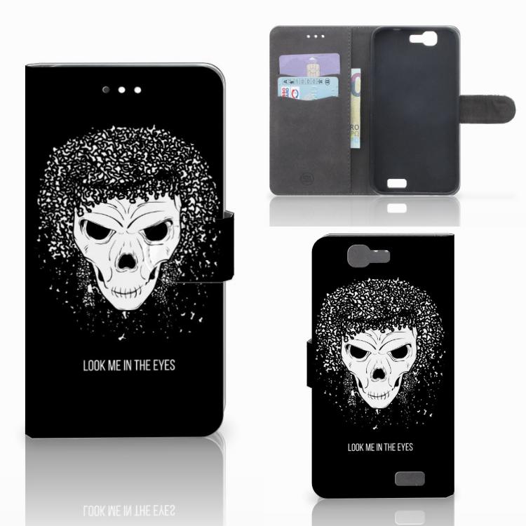Telefoonhoesje met Naam Huawei Ascend G7 Skull Hair