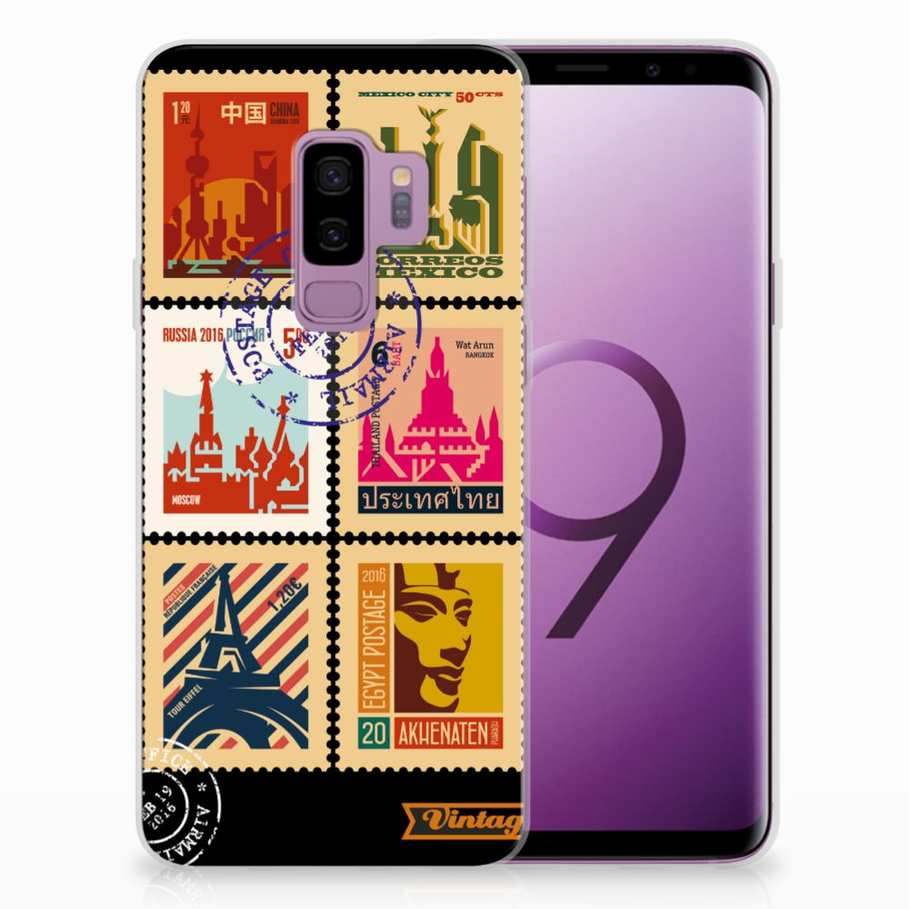 Samsung Galaxy S9 Plus Uniek TPU Hoesje Postzegels