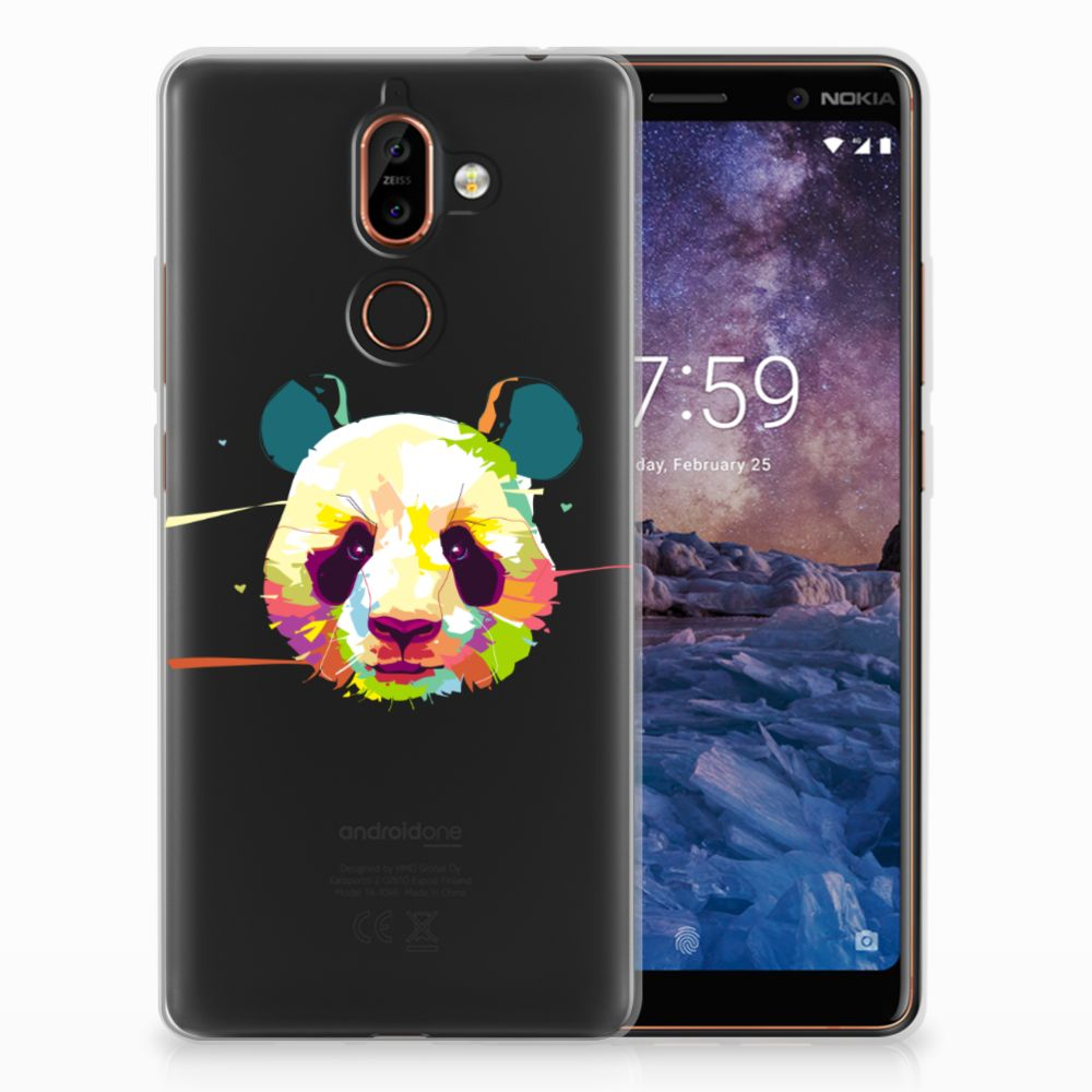 Nokia 7 Plus TPU Hoesje Design Panda Color