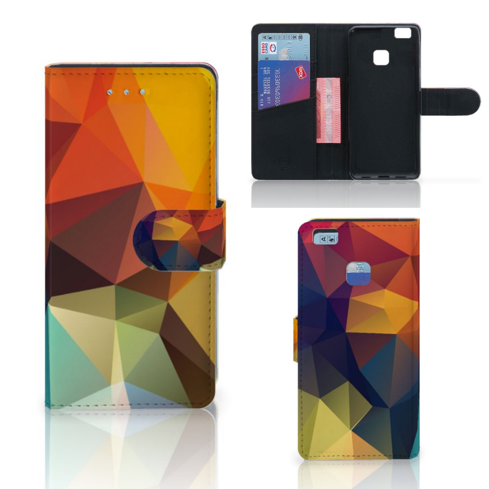 Huawei P9 Lite Bookcase Polygon Color