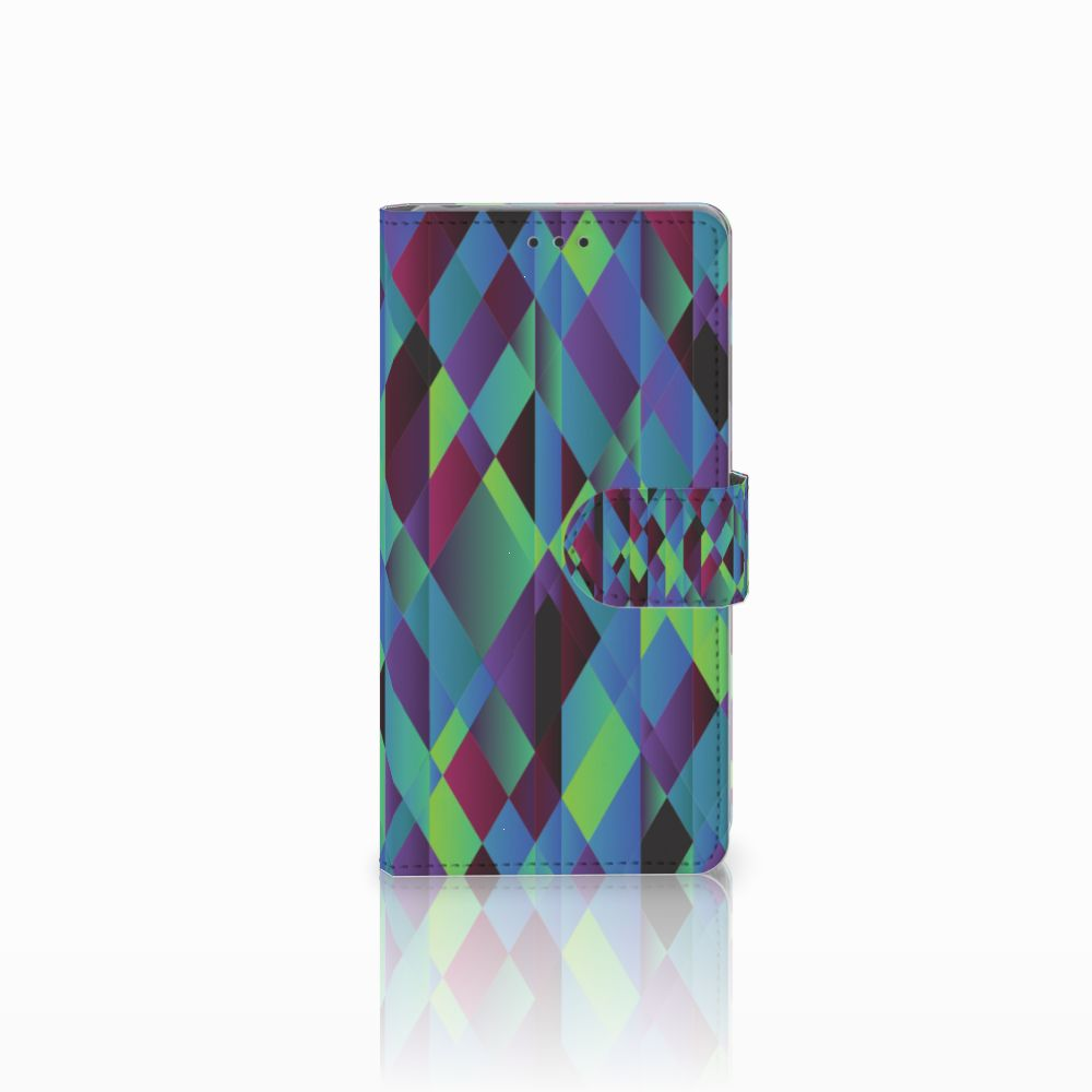 Sony Xperia Z Bookcase Abstract Green Blue