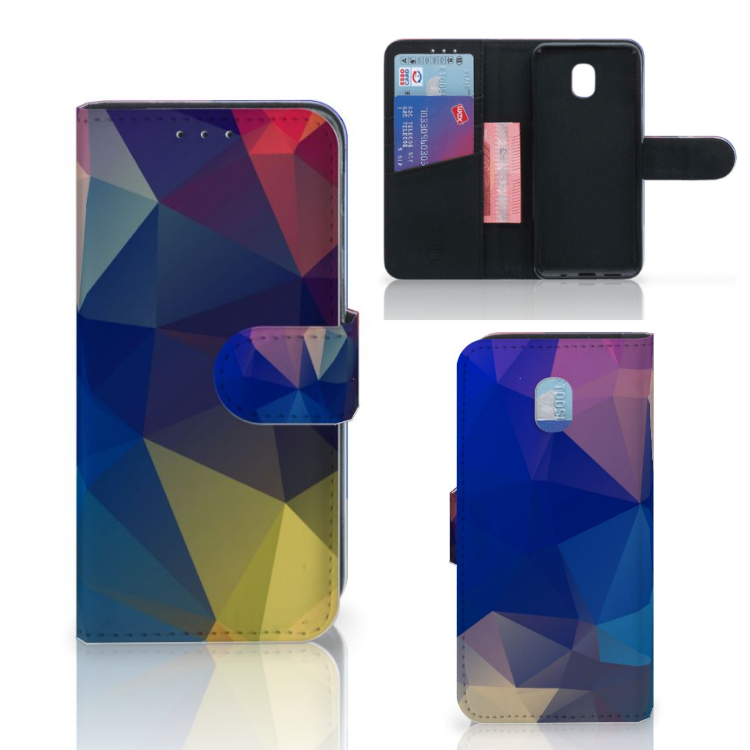 Samsung Galaxy J3 (2018) Bookcase Polygon Dark