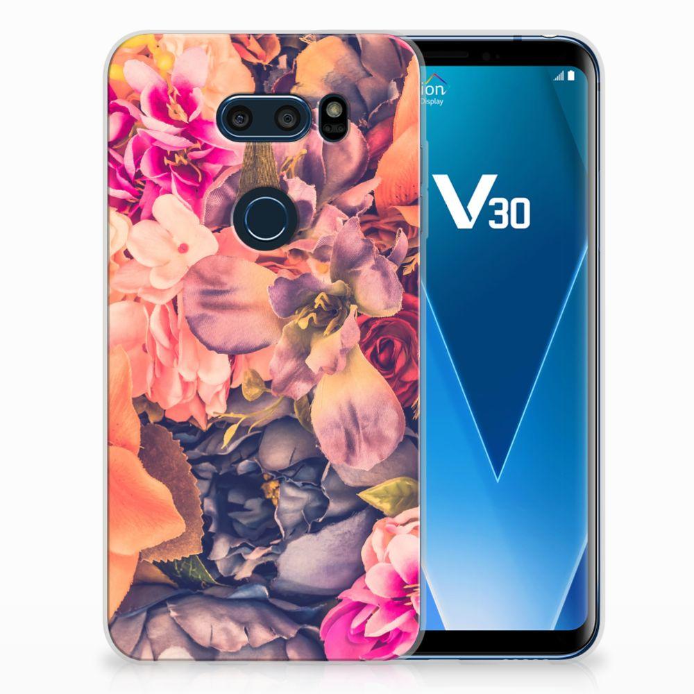 LG V30 TPU Hoesje Design Bosje Bloemen