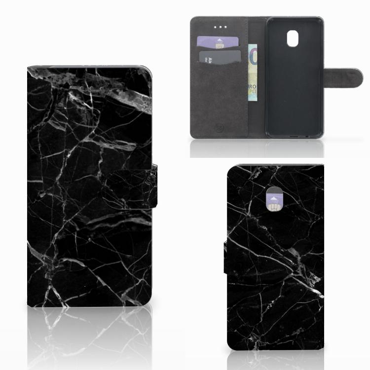 Samsung Galaxy J7 (2018) Bookcase Marmer Zwart