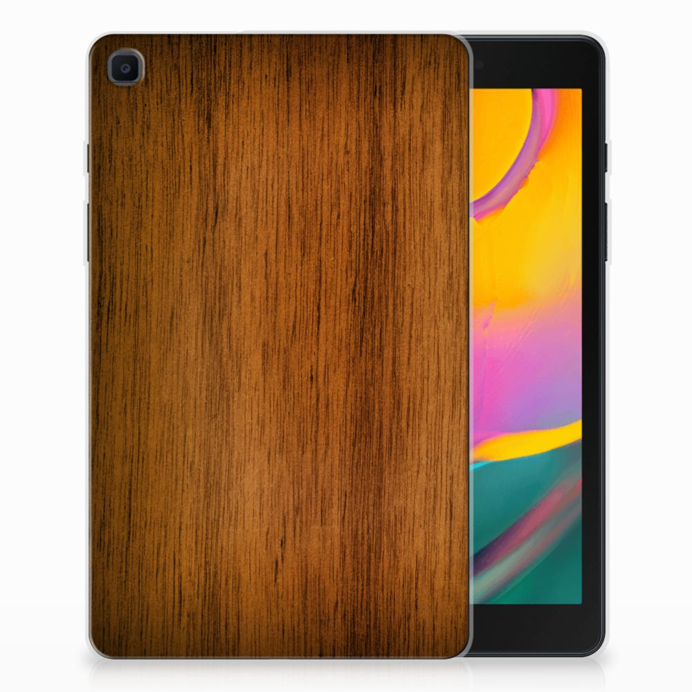 Samsung Galaxy Tab A 8.0 (2019) Silicone Tablet Hoes Donker Hout