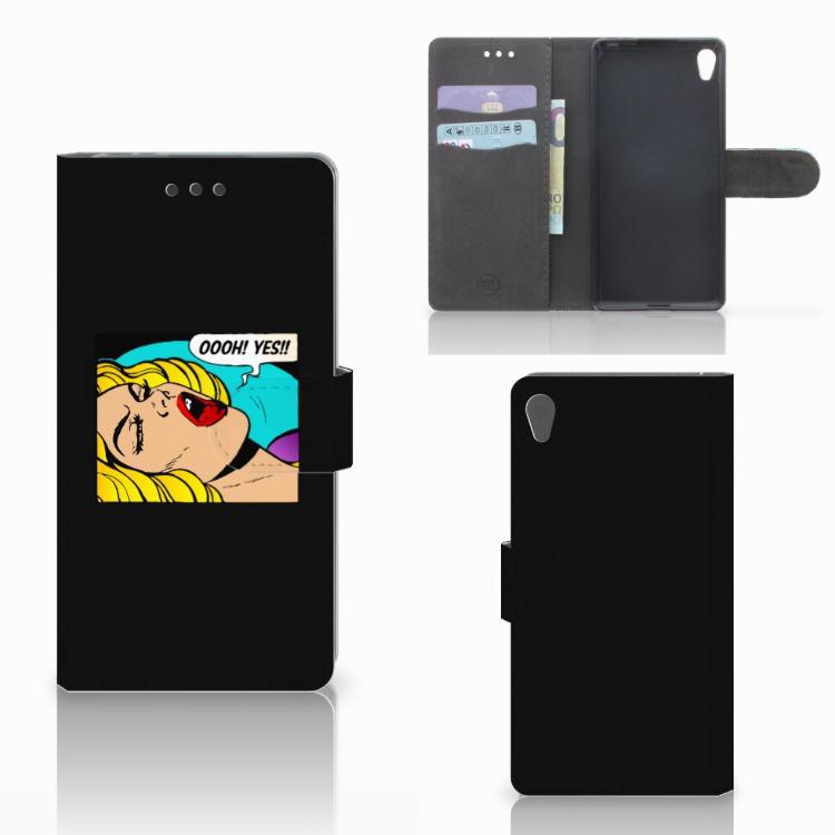 Sony Xperia E5 Wallet Case met Pasjes Popart Oh Yes
