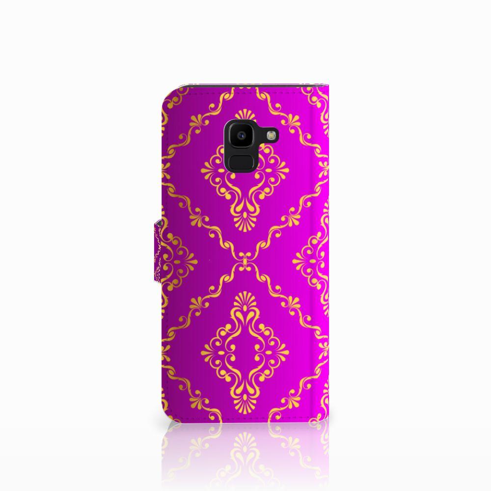 Wallet Case Samsung Galaxy J6 2018 Barok Roze