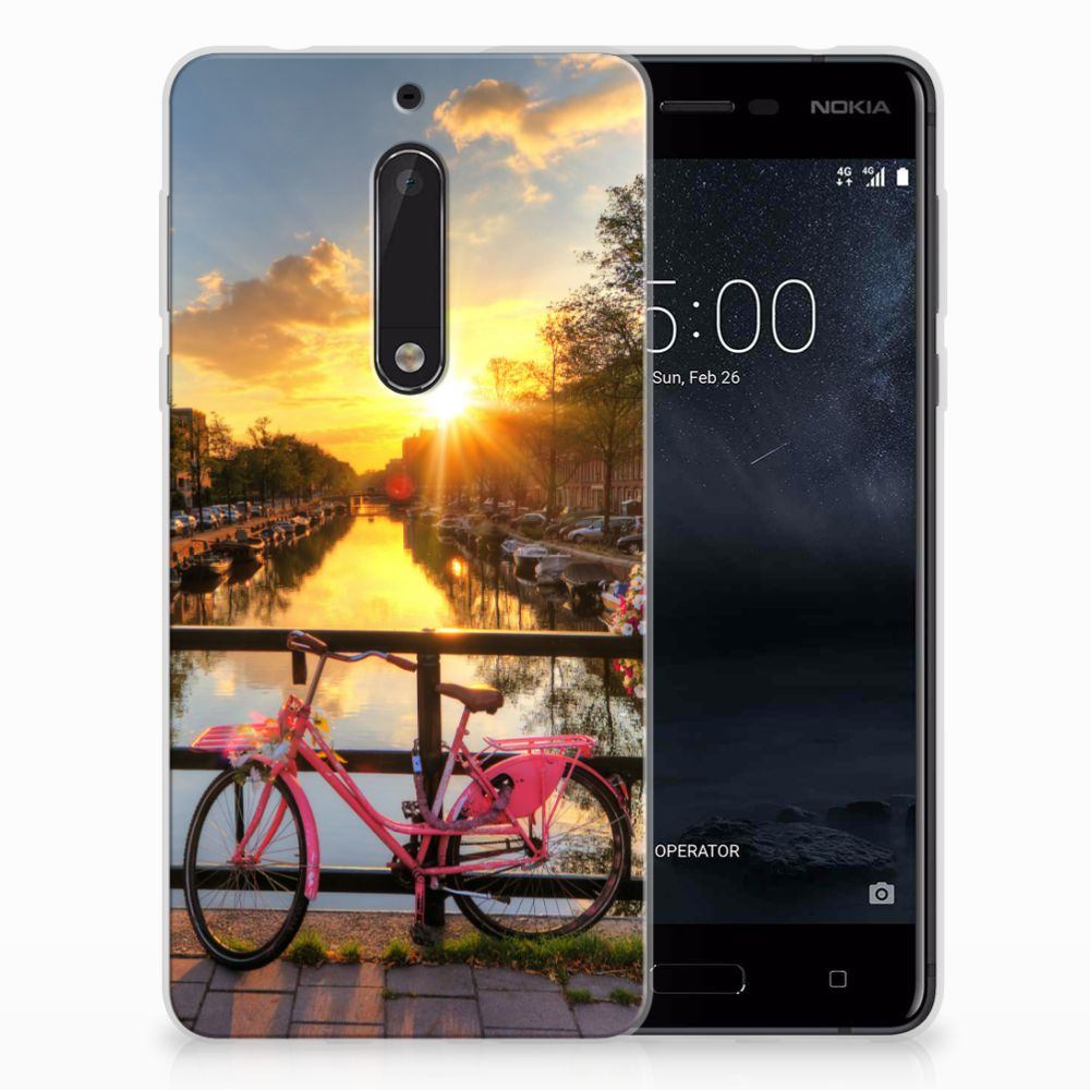Nokia 5 Uniek TPU Hoesje Amsterdamse Grachten