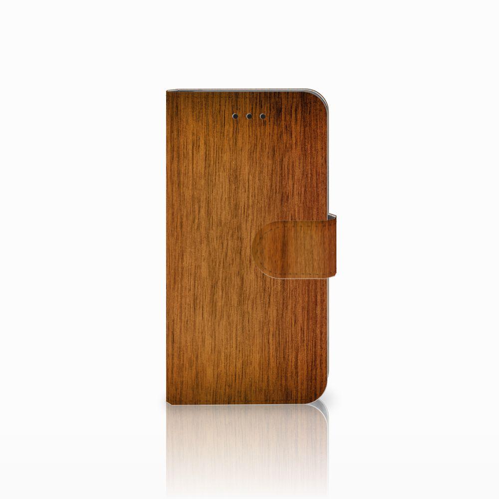 Apple iPhone X | Xs Uniek Boekhoesje Donker Hout