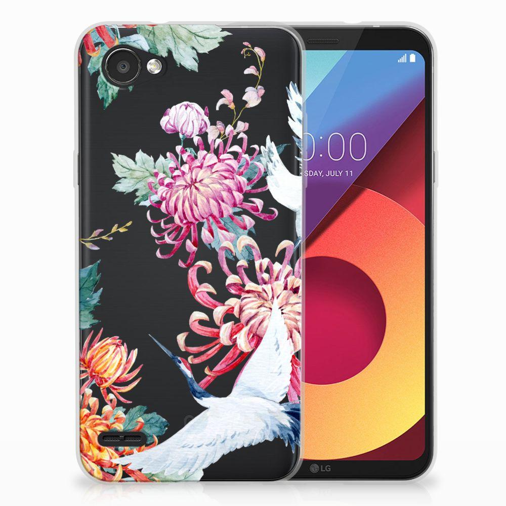 LG Q6 | LG Q6 Plus Uniek TPU Hoesje Bird Flowers