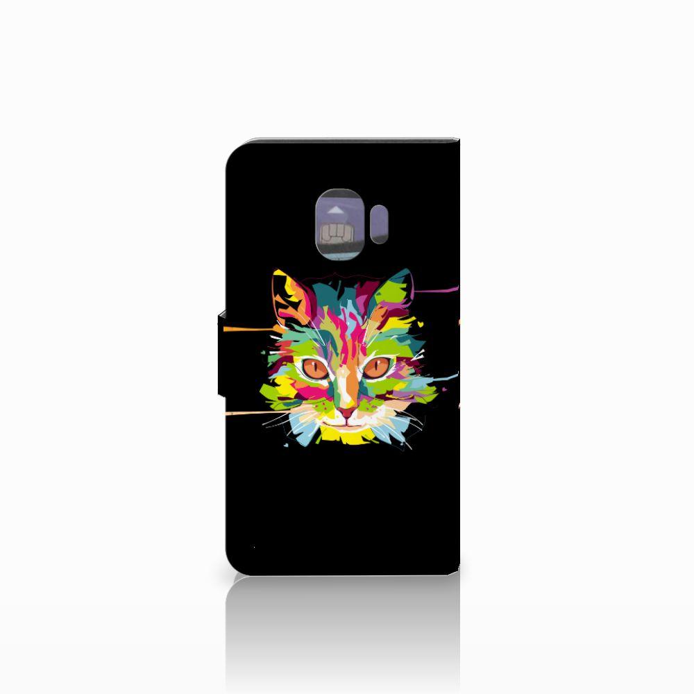 Samsung Galaxy J2 Pro 2018 Leuke Hoesje Cat Color