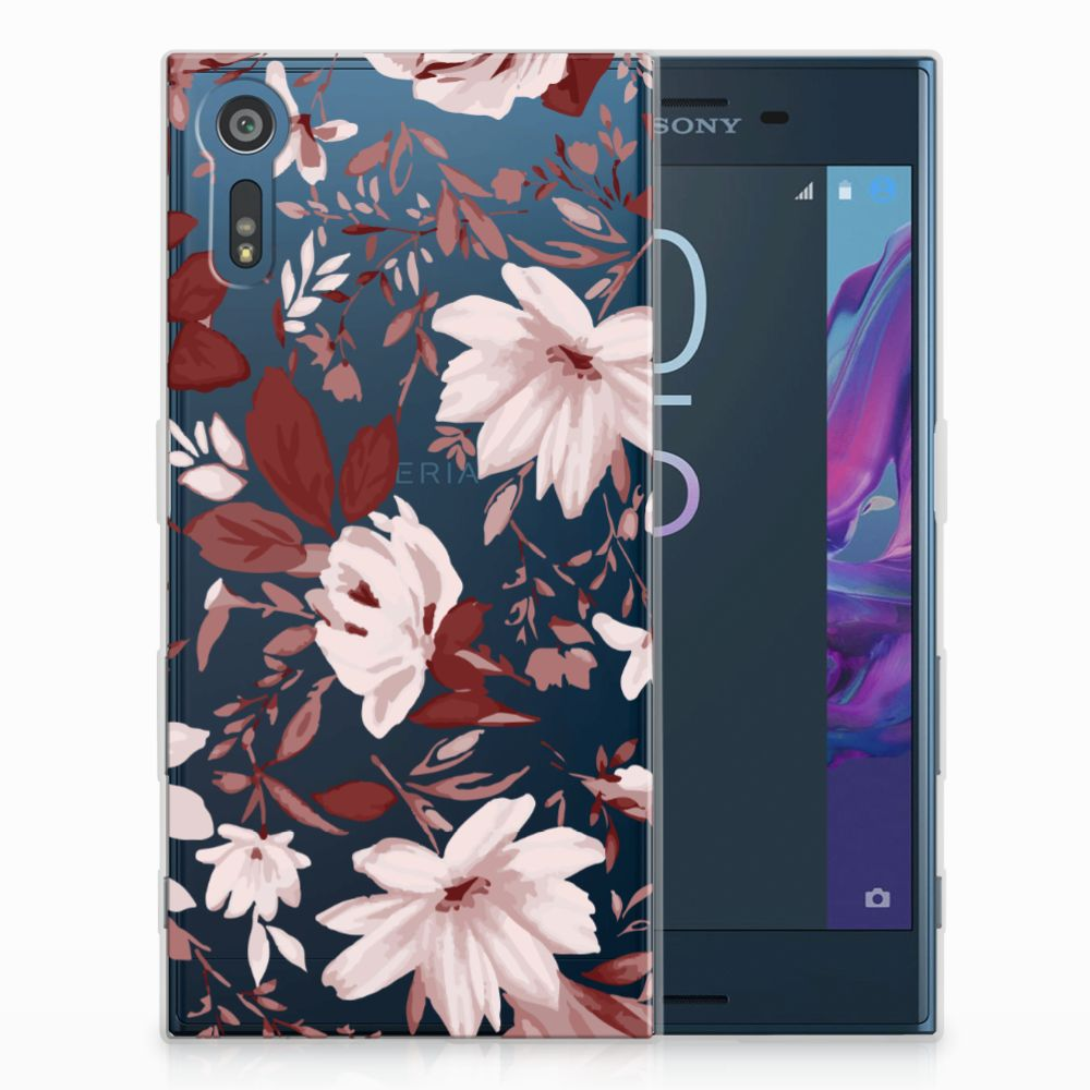 Sony Xperia XZs | XZ Uniek TPU Hoesje Watercolor Flowers