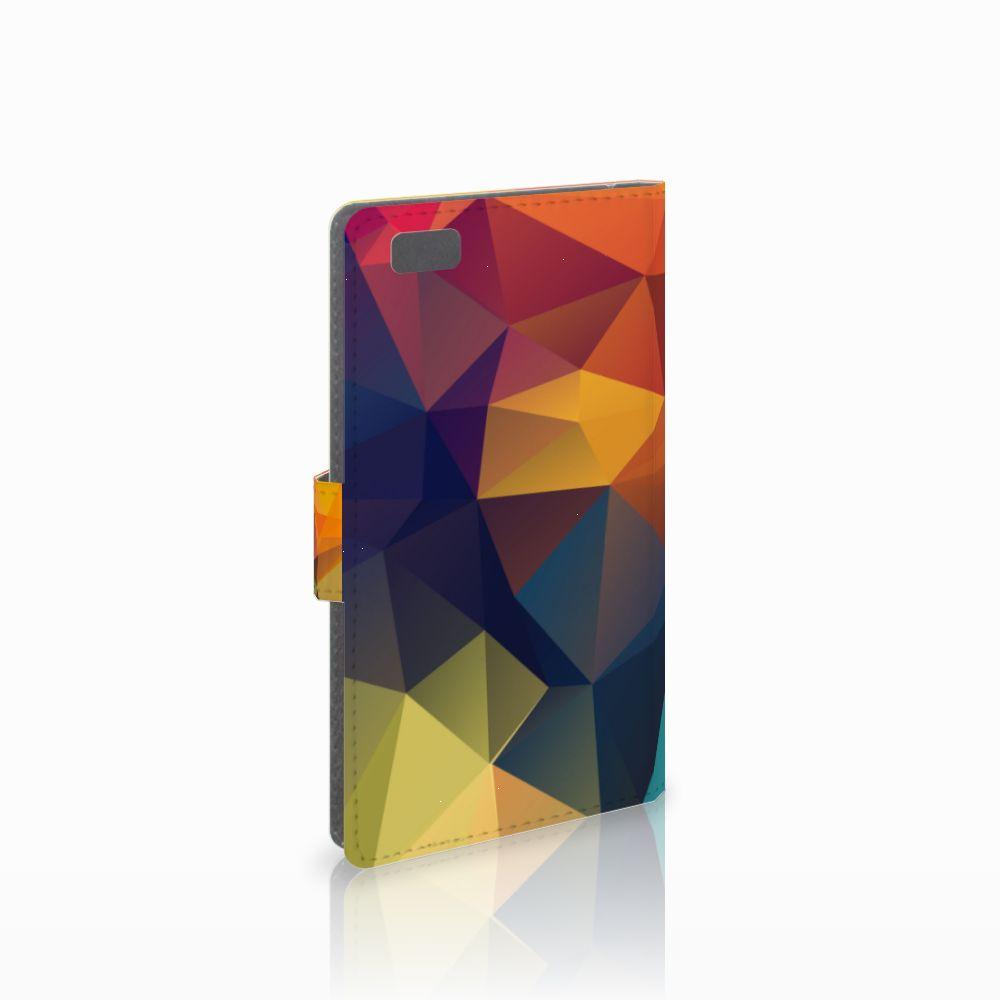 Huawei Ascend P8 Lite Boekhoesje Design Polygon Color