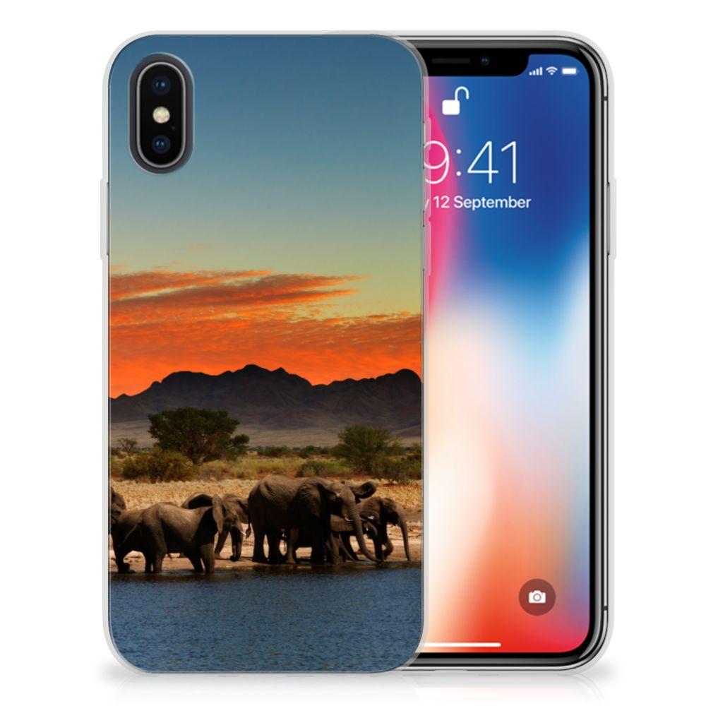 Apple iPhone X   Xs TPU Hoesje Design Olifanten
