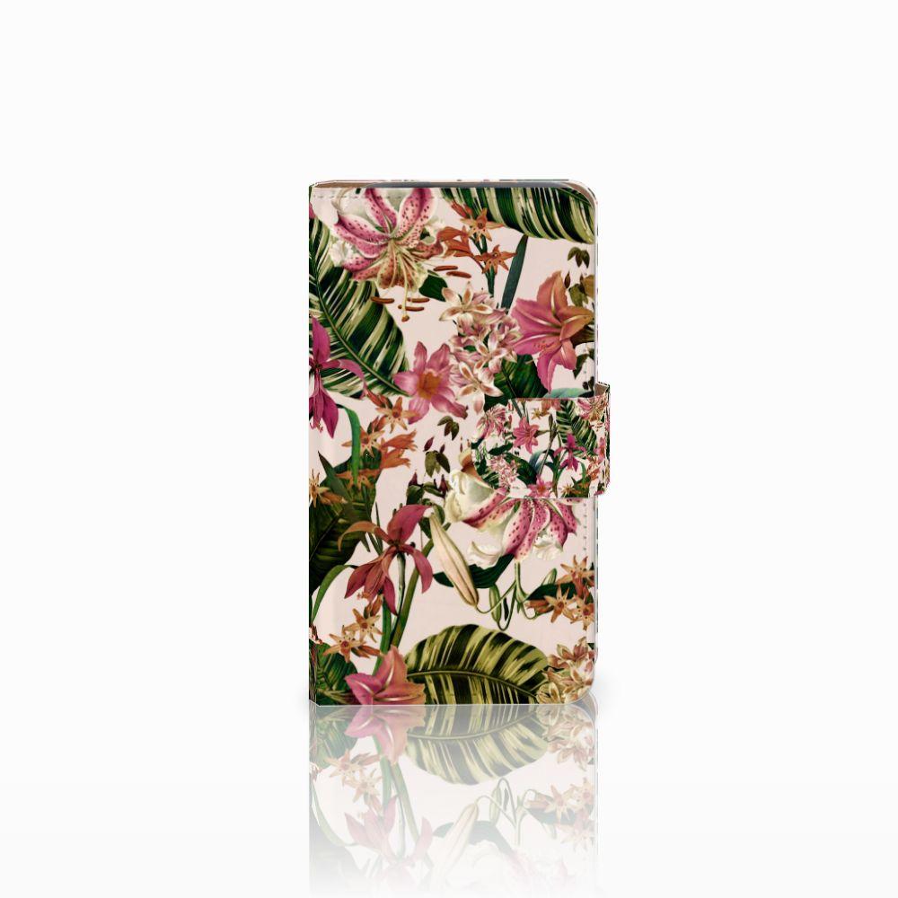 HTC Desire 310 Uniek Boekhoesje Flowers