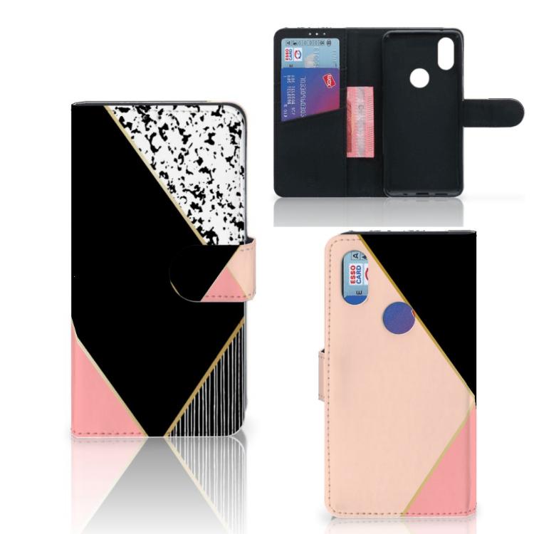 Xiaomi Mi Mix 2s Bookcase Zwart Roze Vormen