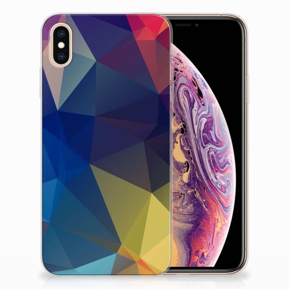 Apple iPhone Xs Max Uniek TPU Hoesje Polygon Dark
