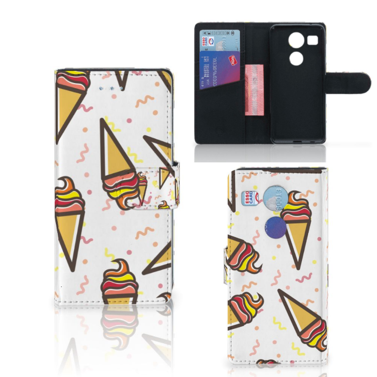 LG Nexus 5X Book Cover Icecream