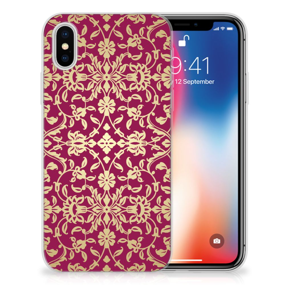 Apple iPhone X | Xs TPU Hoesje Design Barok Pink