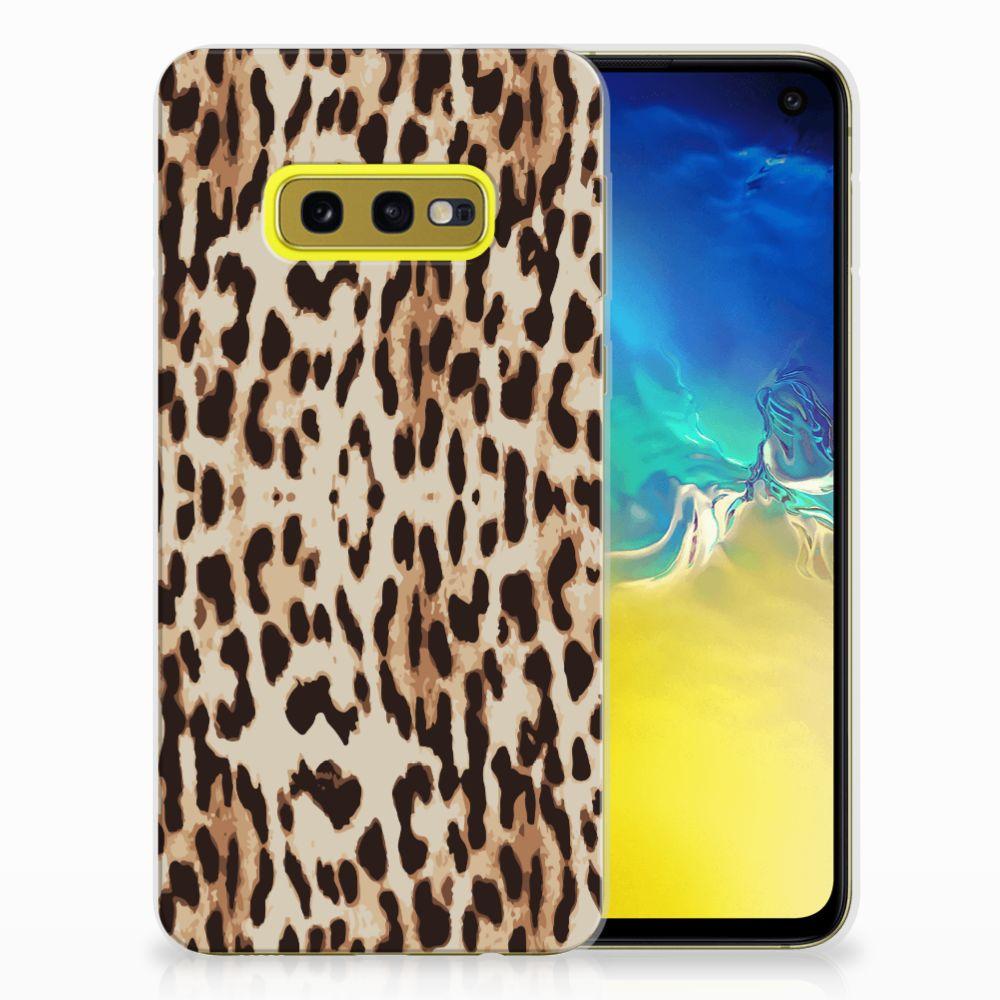 Samsung Galaxy S10e TPU Hoesje Leopard