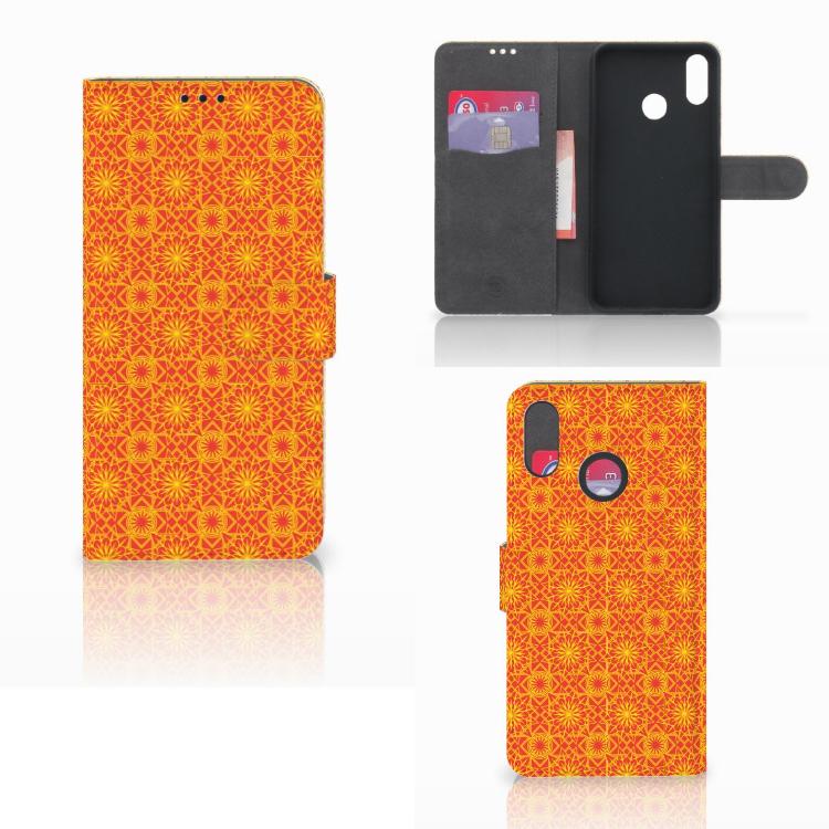 Huawei P Smart Plus Telefoon Hoesje Batik Oranje