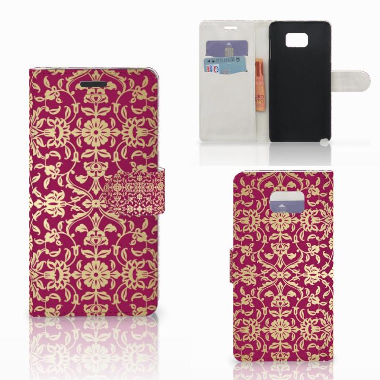 Wallet Case Samsung Galaxy Note 5 Barok Pink