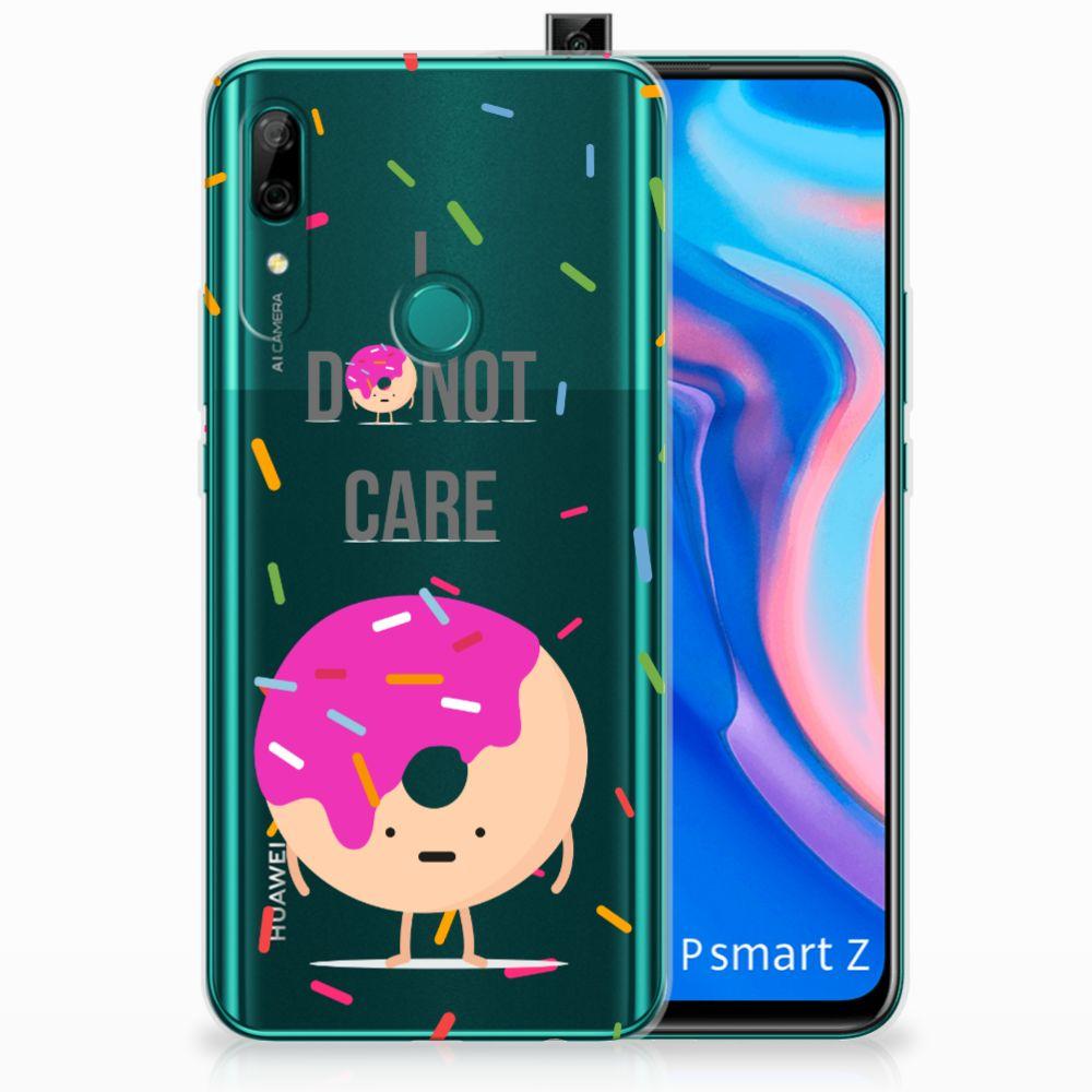 Huawei P Smart Z Siliconen Case Donut Roze