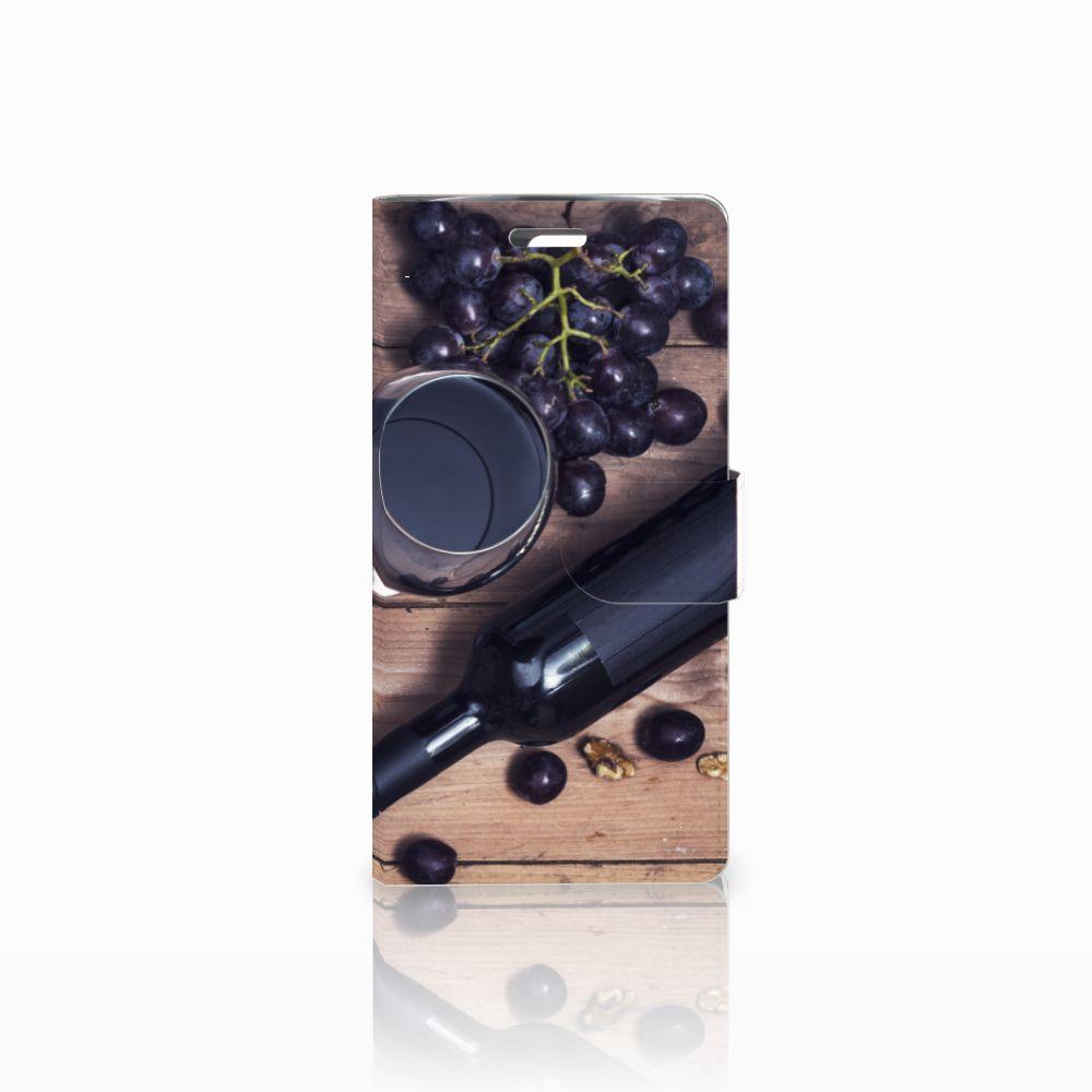 LG K10 2015 Uniek Boekhoesje Wijn