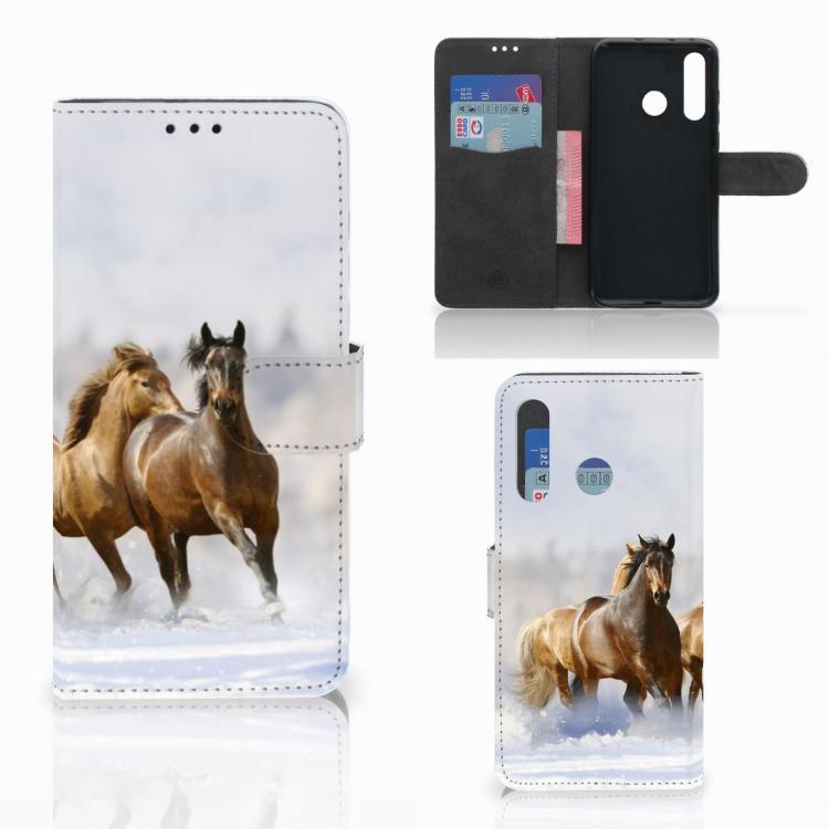 Huawei Nova 4 Telefoonhoesje met Pasjes Paarden