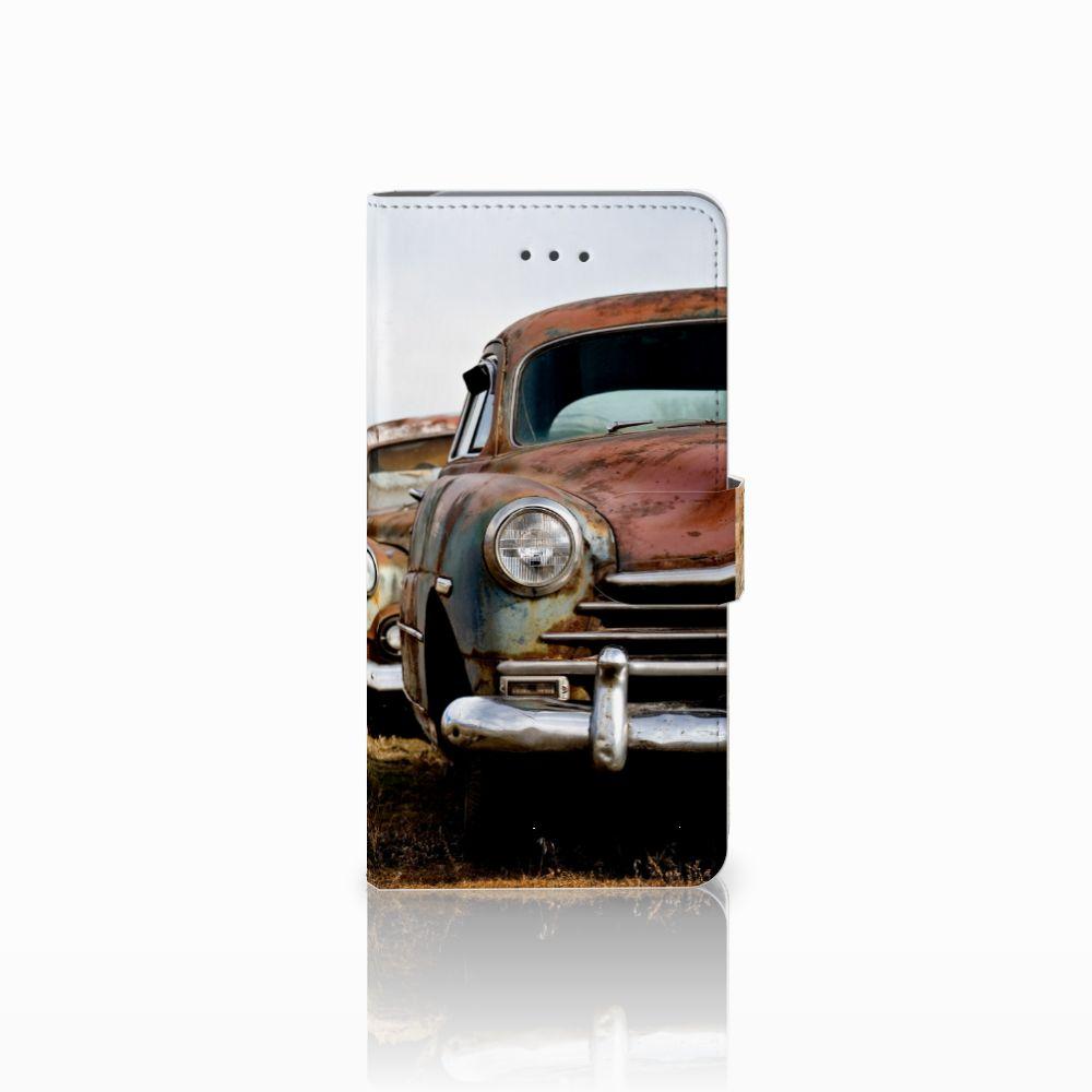Samsung Galaxy J7 (2018) Uniek Boekhoesje Vintage Auto