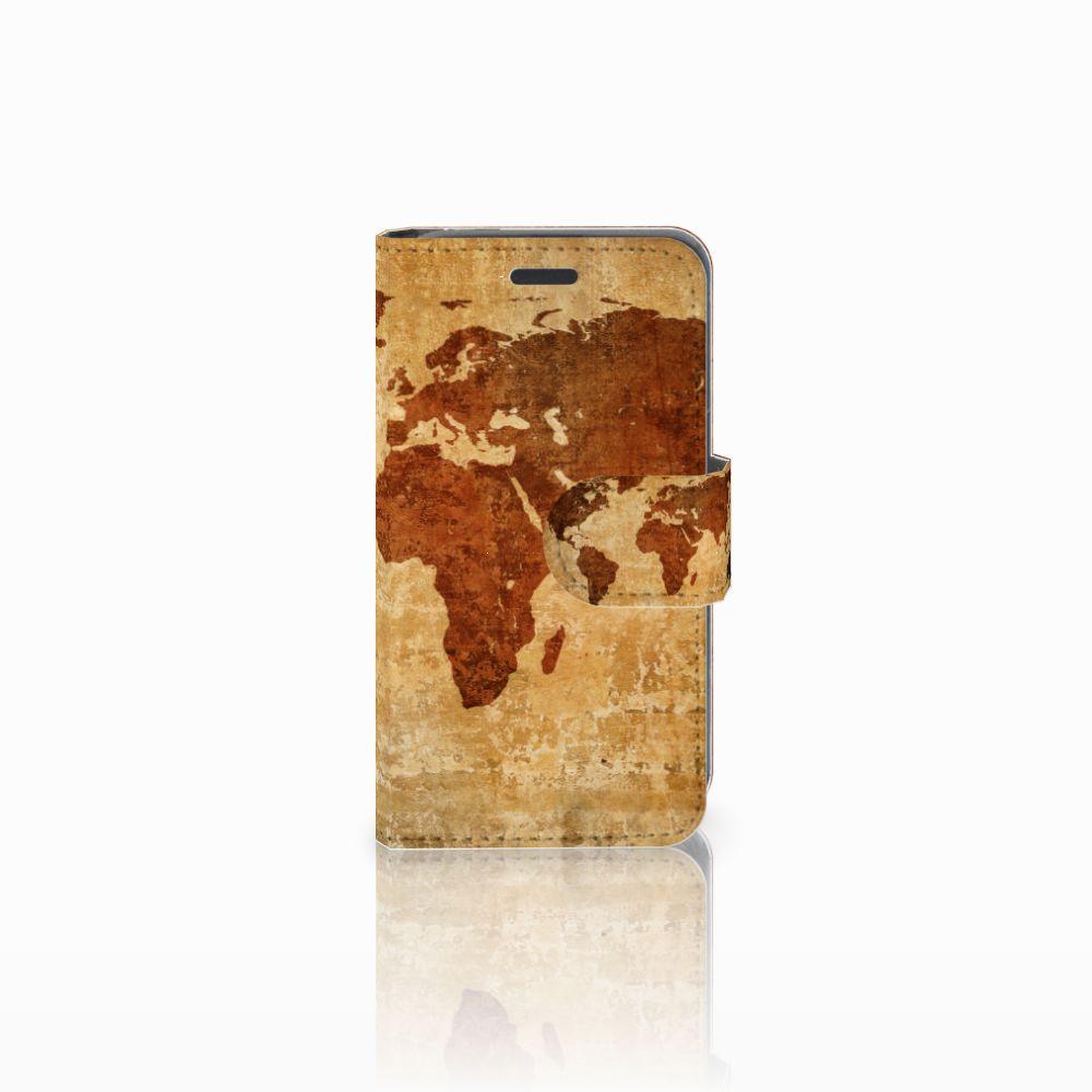Nokia Lumia 520 Boekhoesje Design Wereldkaart