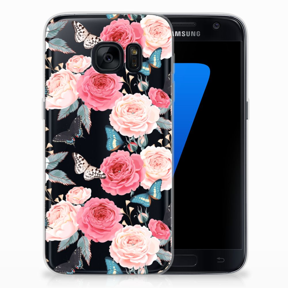 Samsung Galaxy S7 TPU Case Butterfly Roses