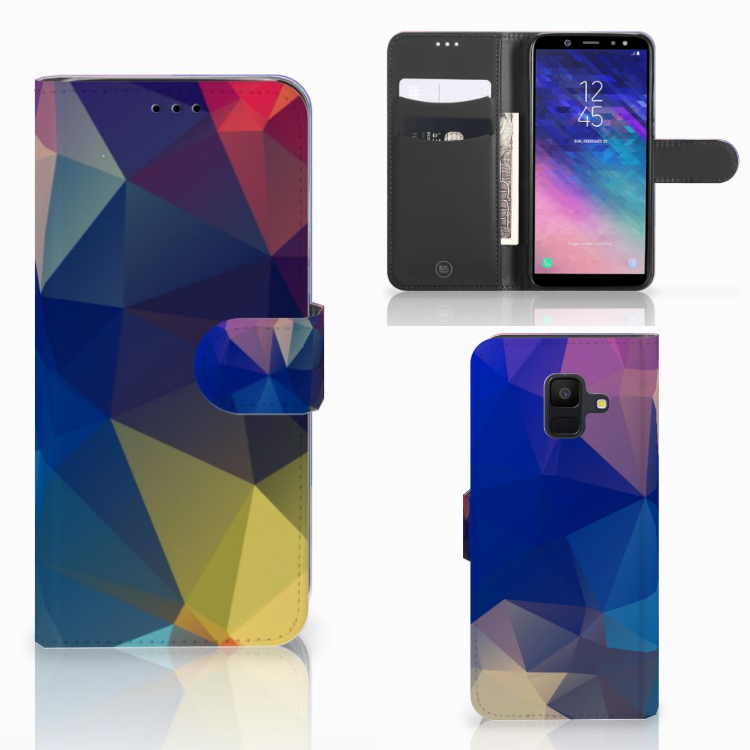 Samsung Galaxy A6 2018 Bookcase Polygon Dark