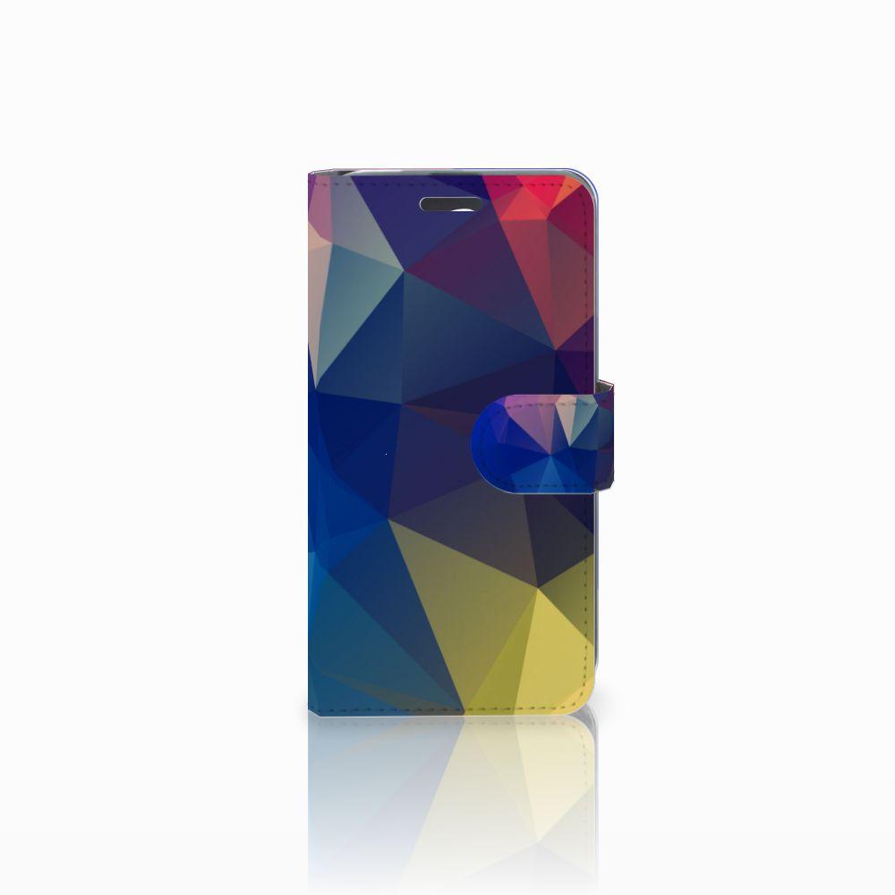 Acer Liquid Z520 Uniek Boekhoesje Polygon Dark
