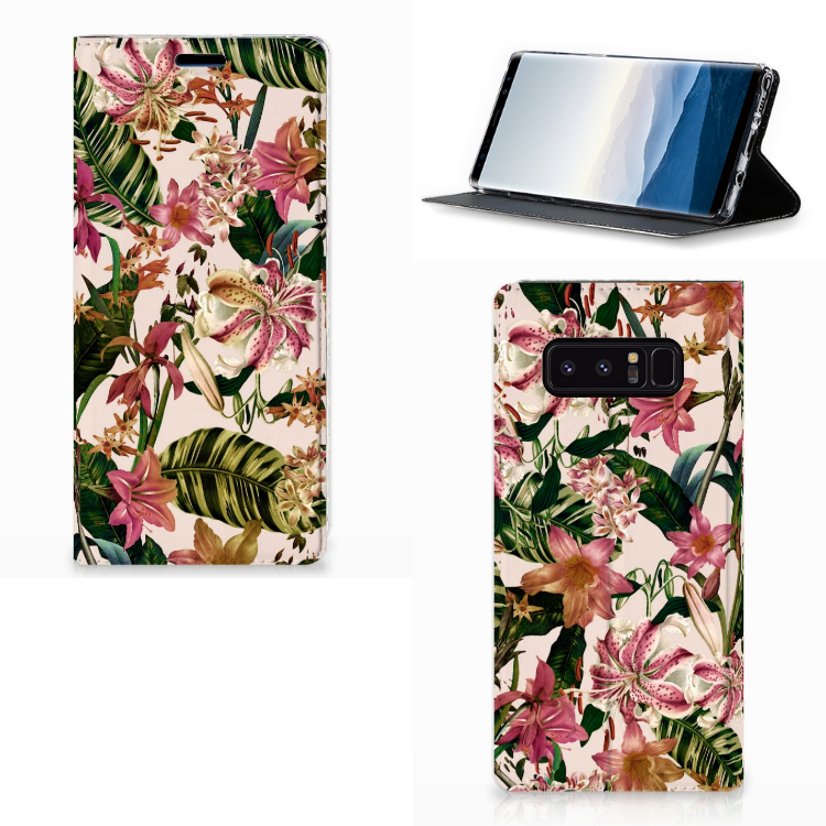 Samsung Galaxy Note 8 Smart Cover Flowers