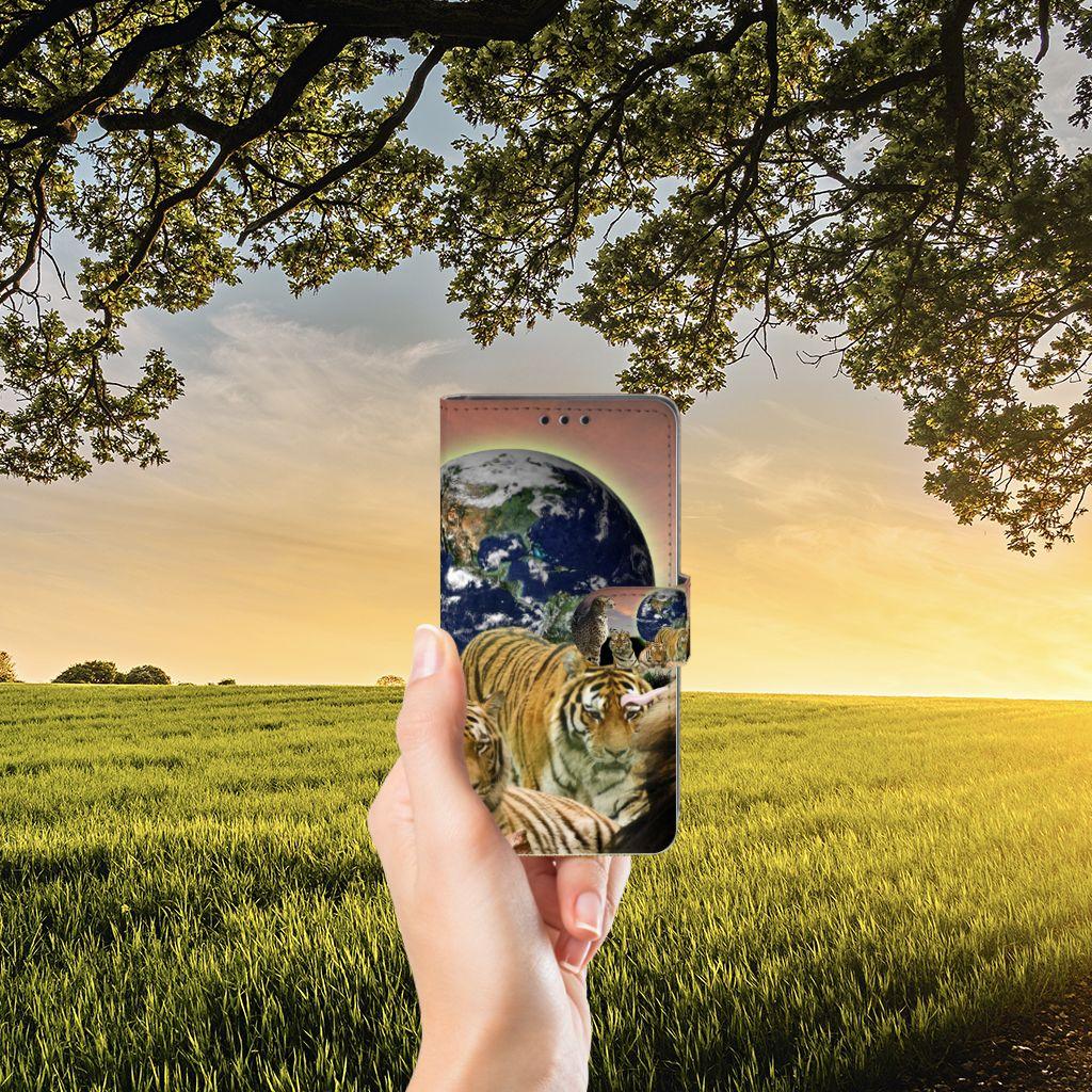Sony Xperia Z5   Z5 Dual Telefoonhoesje met Pasjes Roofdieren