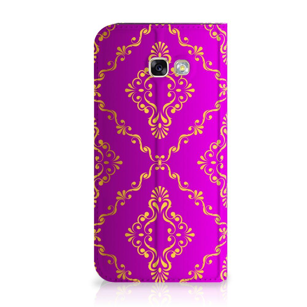Samsung Galaxy A5 2017 Uniek Standcase Hoesje Barok Roze