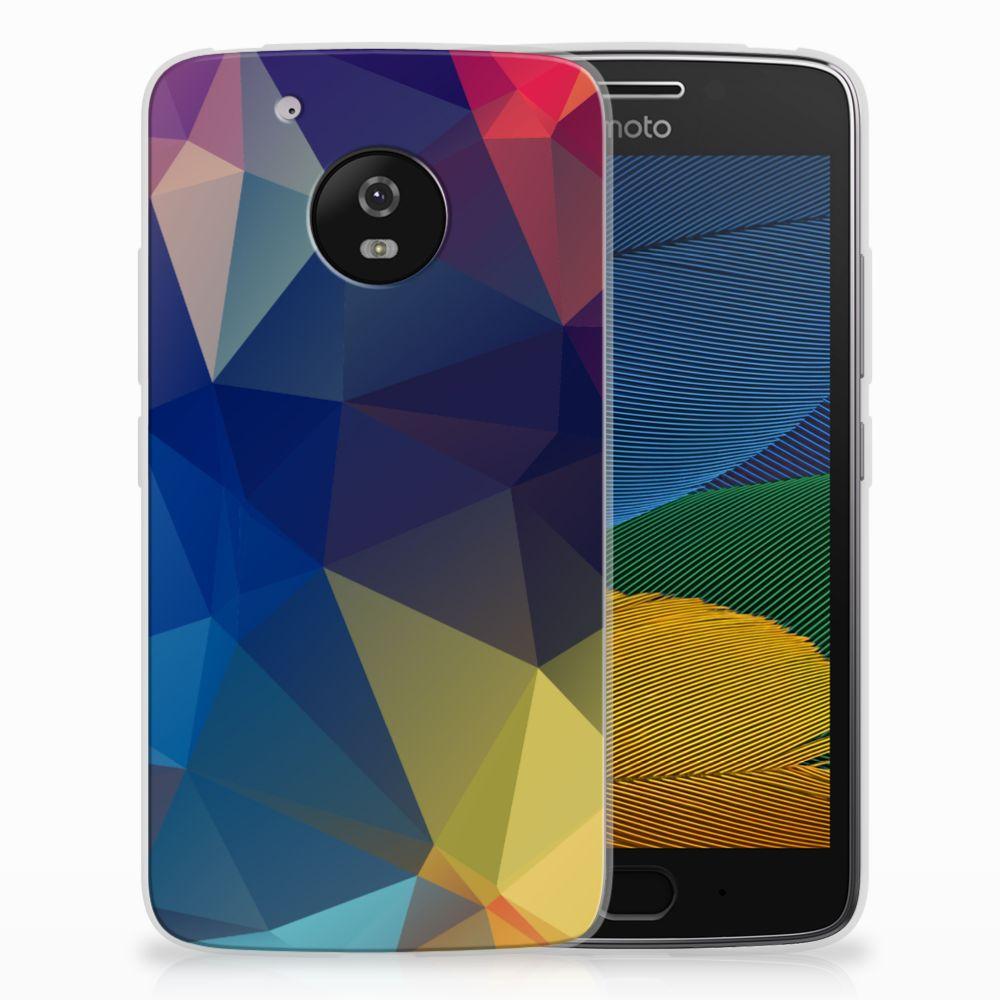 Motorola Moto G5 TPU Hoesje Polygon Dark