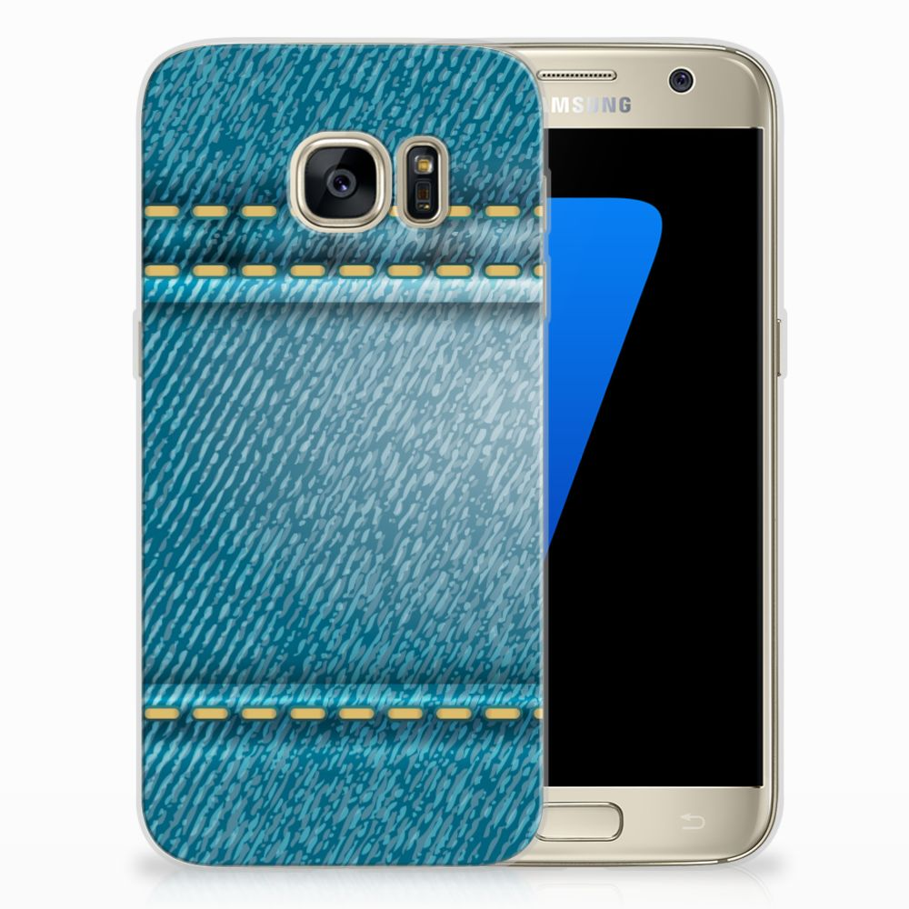 Samsung Galaxy S7 TPU Hoesje Design Jeans