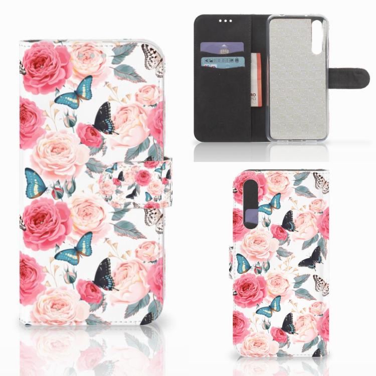 Huawei P20 Pro Hoesje Butterfly Roses