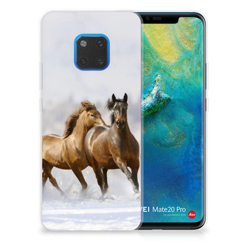 Huawei Mate 20 Pro Uniek TPU Hoesje Paarden