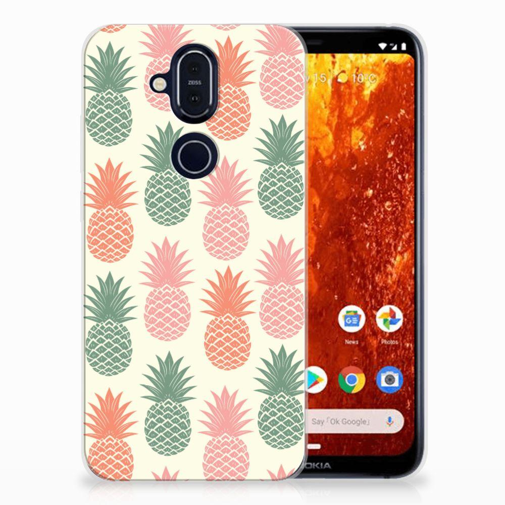 Nokia 8.1 Siliconen Case Ananas
