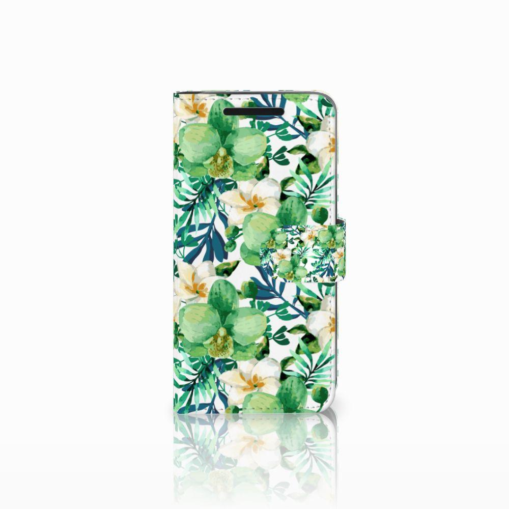HTC One M9 Uniek Boekhoesje Orchidee Groen