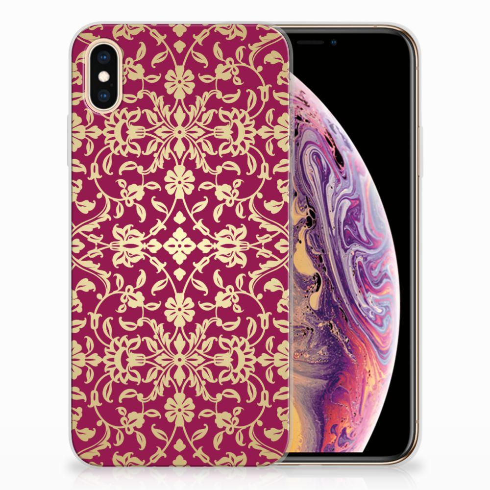 Apple iPhone Xs Max TPU Hoesje Design Barok Pink
