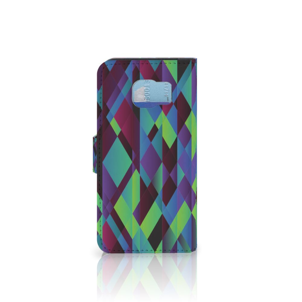 Samsung Galaxy S6 | S6 Duos Bookcase Abstract Green Blue