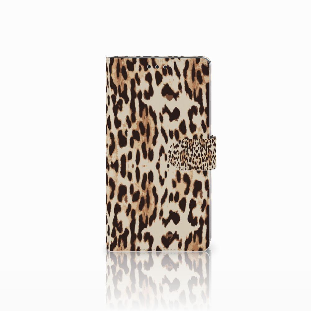 Sony Xperia XA2 Ultra Uniek Boekhoesje Leopard