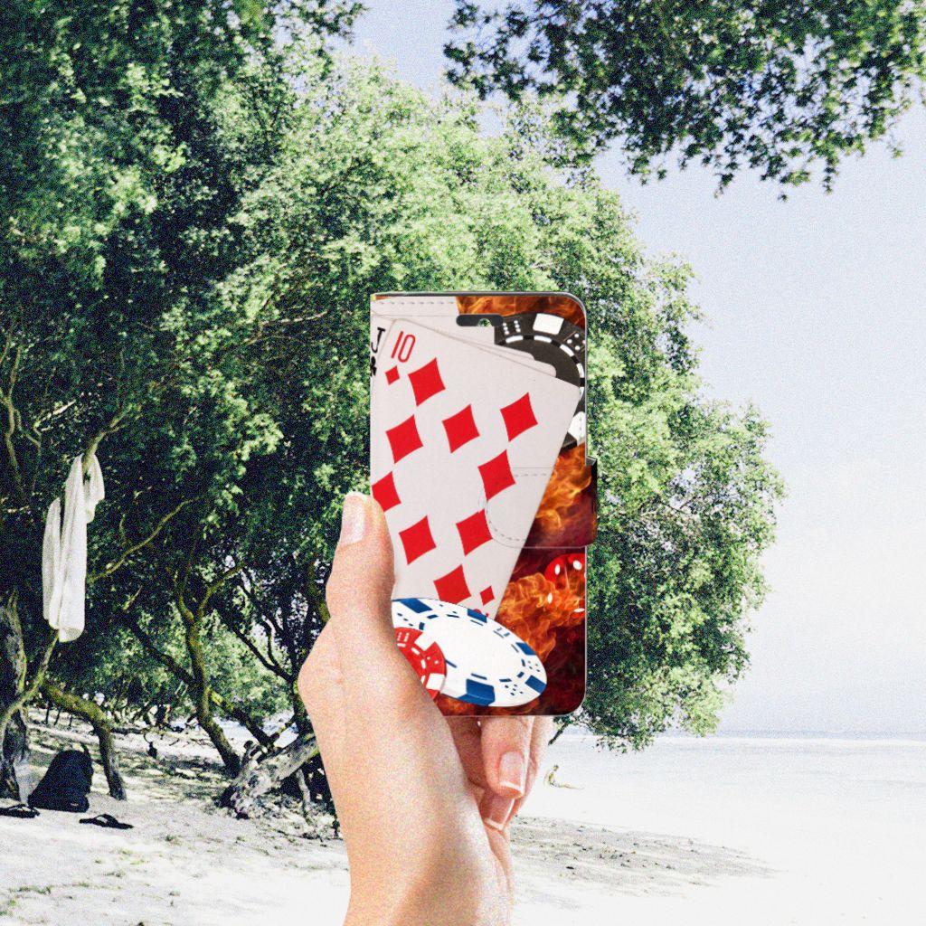 Huawei Ascend Y550 Wallet Case met Pasjes Casino