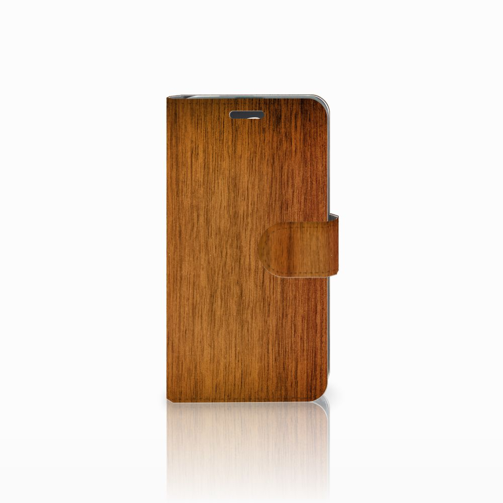 Acer Liquid Z520 Book Style Case Donker Hout