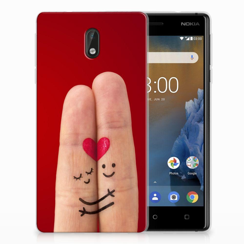 Nokia 3 Uniek TPU Hoesje Liefde